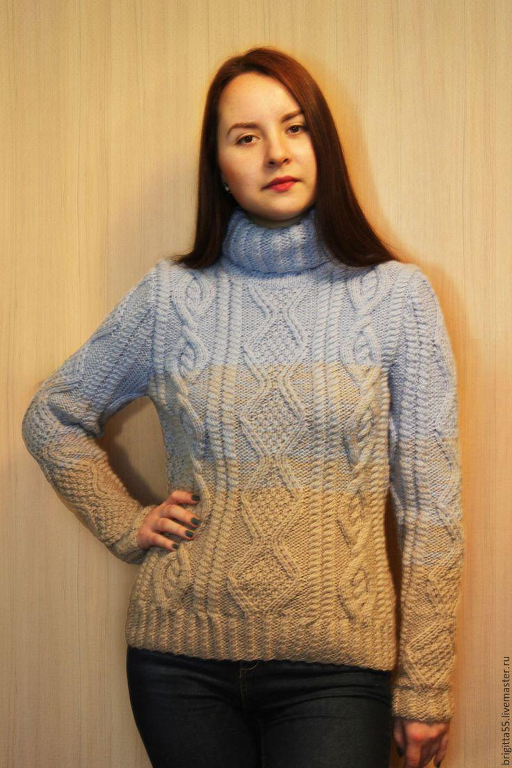 Стильный, модный, красивый, уютный, приятный к телу - вот некоторые характеристики этого свитера со слегка приталенным силуэтом.  В таком - и в мир, и в пир, и в добрые люди...  Повторю для любого размера и цветового решения.