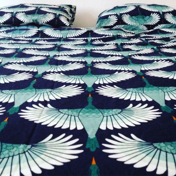 Flying duck sheets for double bed. Turquoise color. h&m home, 699 CZK  #bedding #sheets #bed #bedroom #sleeptime #duck #doublebed