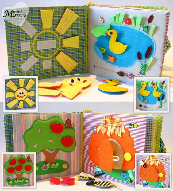 Children's Quiet Book Busy Book Eco friendly by MiniMoms on Etsy: