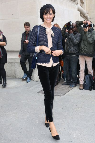 Ines de la Fressange - PFW: Arrivals at Chanel