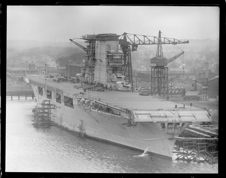 USS Lexington, fitting out