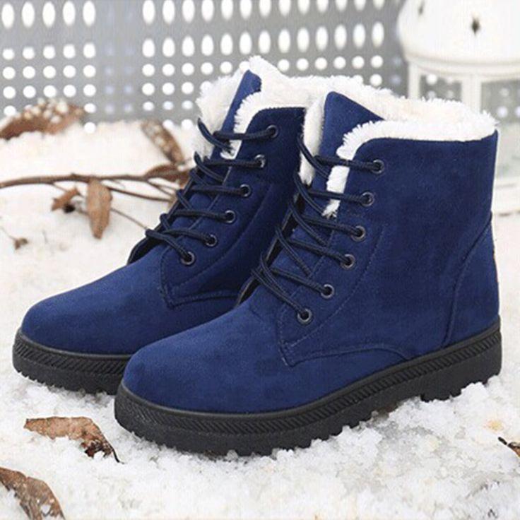 Stivali da neve inverno stivaletti scarpe donna plus size scarpe 2016 tacchi moda stivali invernali scarpe di moda