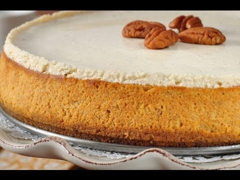 Pumpkin Cheesecake Recipe Demonstration - Joyofbaking.com - YouTube