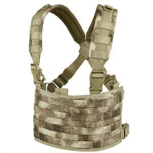 A-tacs O.P.S. Panel by Condor. $44.49. Condor's OPS Chest Rig also has two grommets for drainage and an additional mesh back pocket.  It's size is adjustable to fit medium to 2xl.
