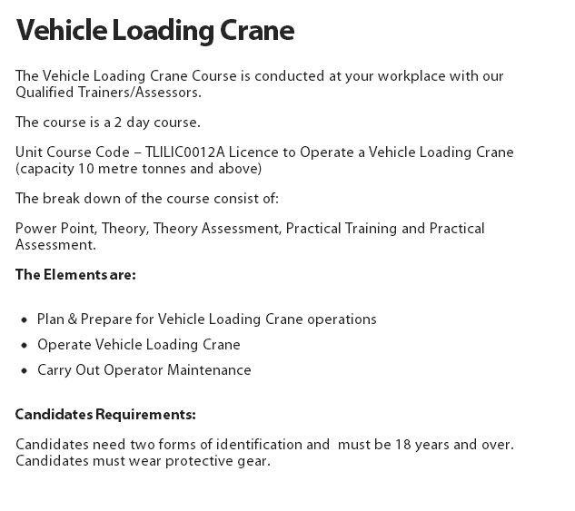 Vehicle Loading Crane