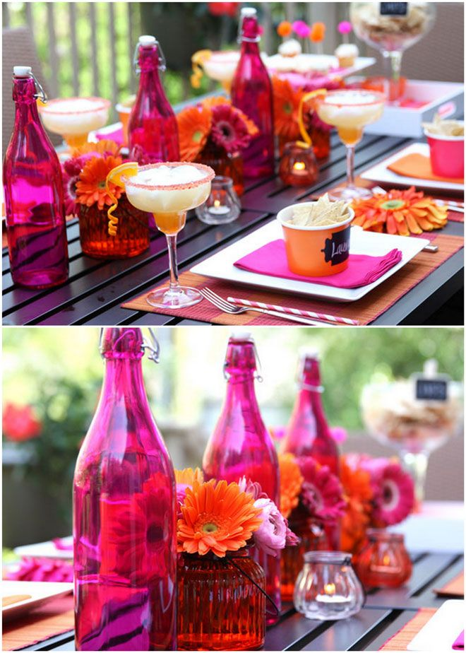 Colors Cinco de Mayo Party Table for a festive Girl's Night In, fiesta style!