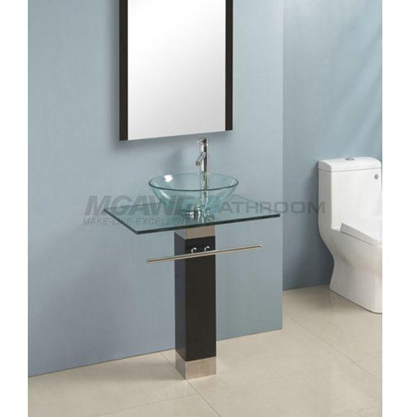 48 best glass sink vanity images on Pinterest | Glass bowl