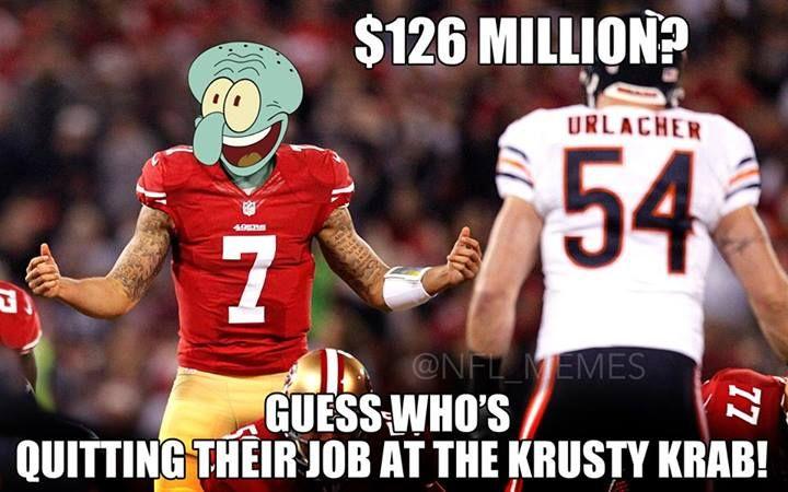 Kaepernick memes are so cruel. NFL memes