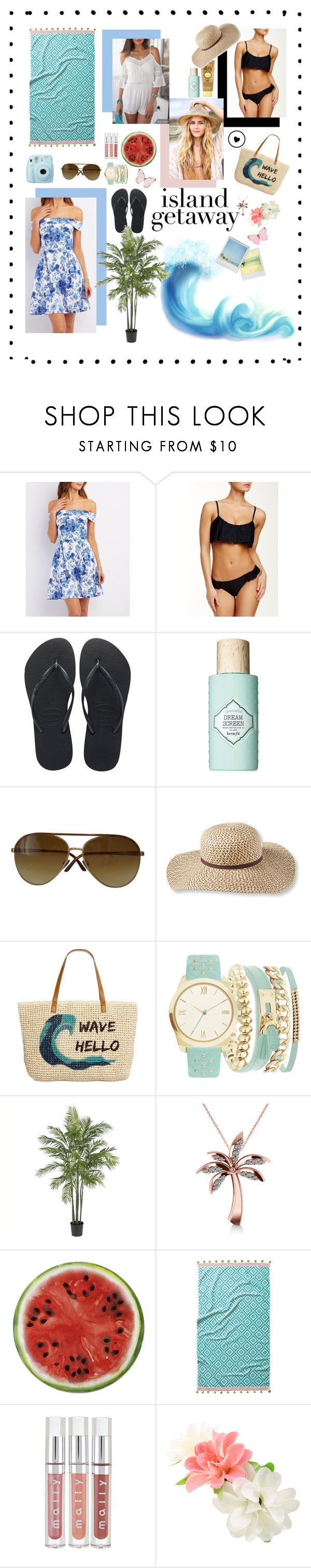 """""""Island getaway"""" by alycat63 ❤ liked on Polyvore featuring Charlotte Russe, Reef, Havaianas, Benefit, Fuji, Sun Bum, Tom Ford, L.L.Bean, Style & Co. and A.X.N.Y."""