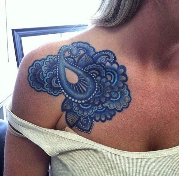 Paisley shoulder piece by Kodi Klo