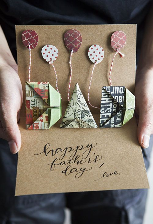 All Things Paper: DIY: Origami Pop-up Father's Day Card + Printable