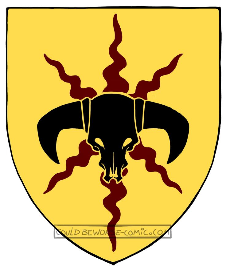 You saved to Kidslarp wisselwoud  Barbaric orc symbol on shield, horns and skull, made for gamesnstuff.com