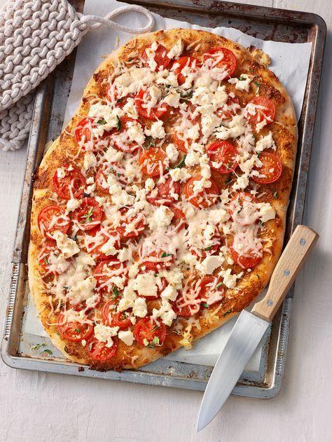Pizza al pesto rosso
