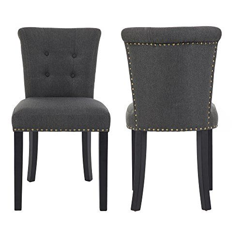 gotminsi set of 2 stylish upholstered dining chairs with button rh pinterest com