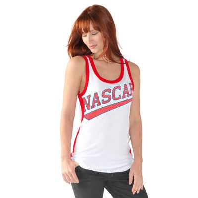 Women's NASCAR Merchandise G-III 4Her by Carl Banks White Boost Tank Top