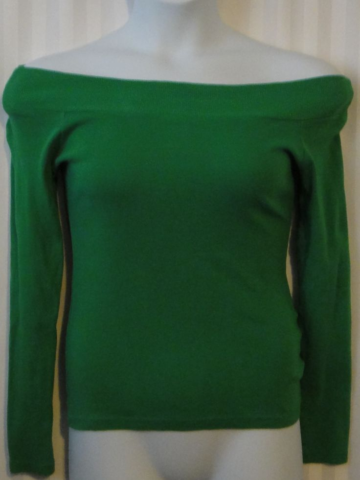 Greenery the color of S& s 2017 Off the Shoulder knit top available now at ChicCentSations eBay Store.