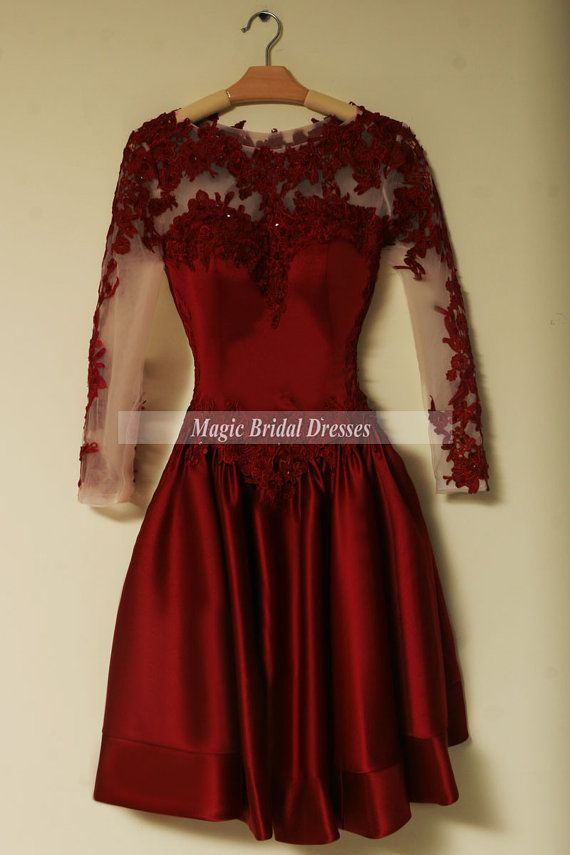 Graceful Women Party Dress with Long Sleeves by MagicBridalDresses