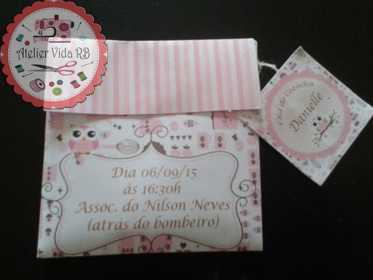Convite personalizado de acordo com seu evento. <br>Personalizo no tema, nas cores desejada. <br>Convite vai pronto com o sachet de chá, à escolher.