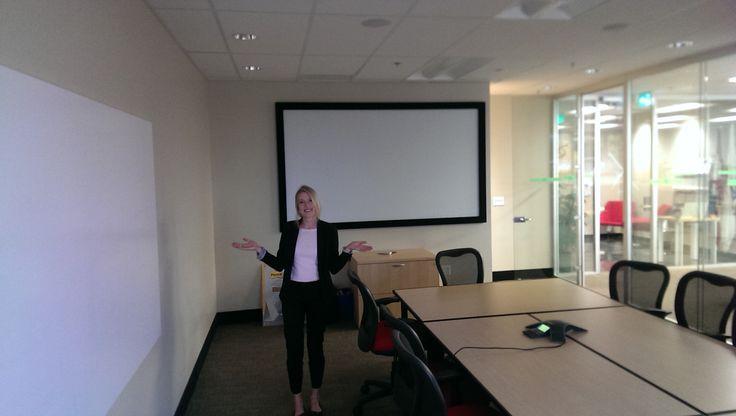 Boardroom video projection