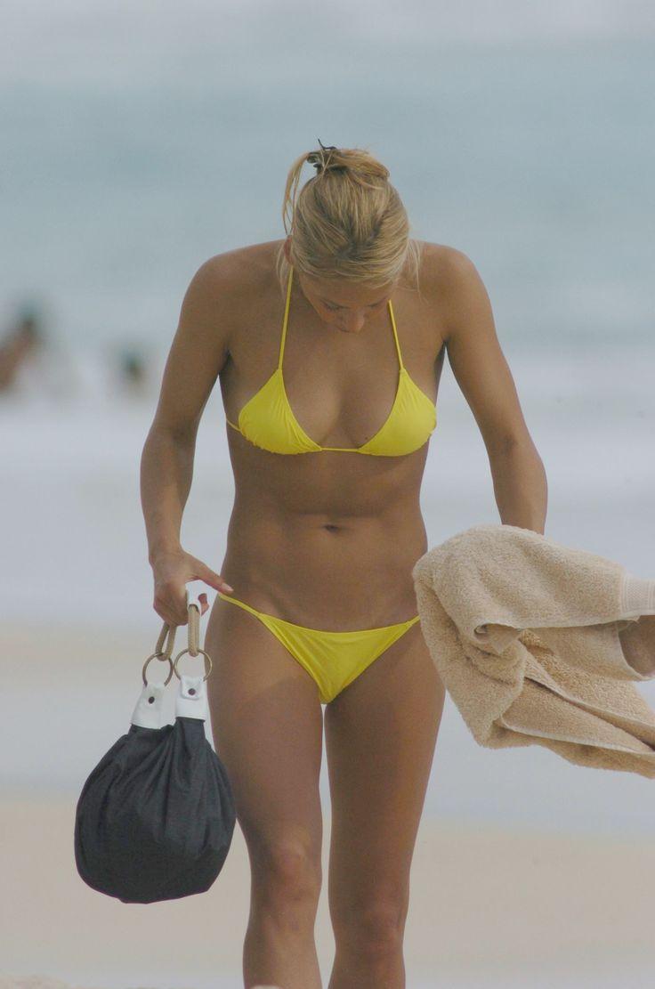 Anna kournokova yellow bikini
