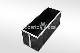 Black rattan pot for balcony and terrace