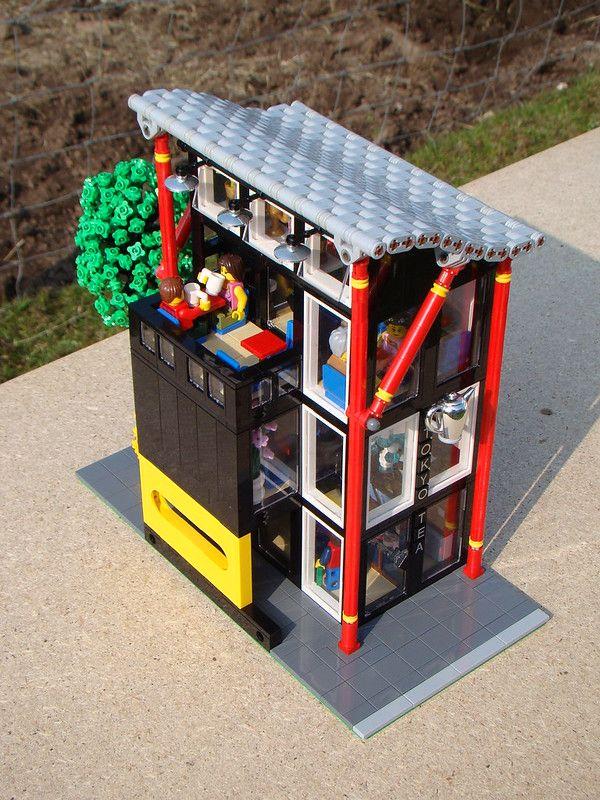 Tokyo Tea Exterior Roof Lego Ninjago City Lego House Lego Architecture