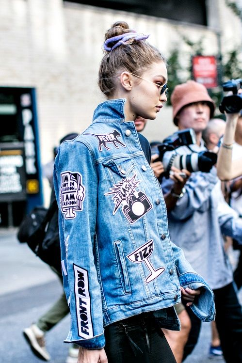 "models-fashion111: ""  Gigi Hadid outside Marc Jacobs Spring 2017 - NYFW, photographed by Sandra Semburg. """