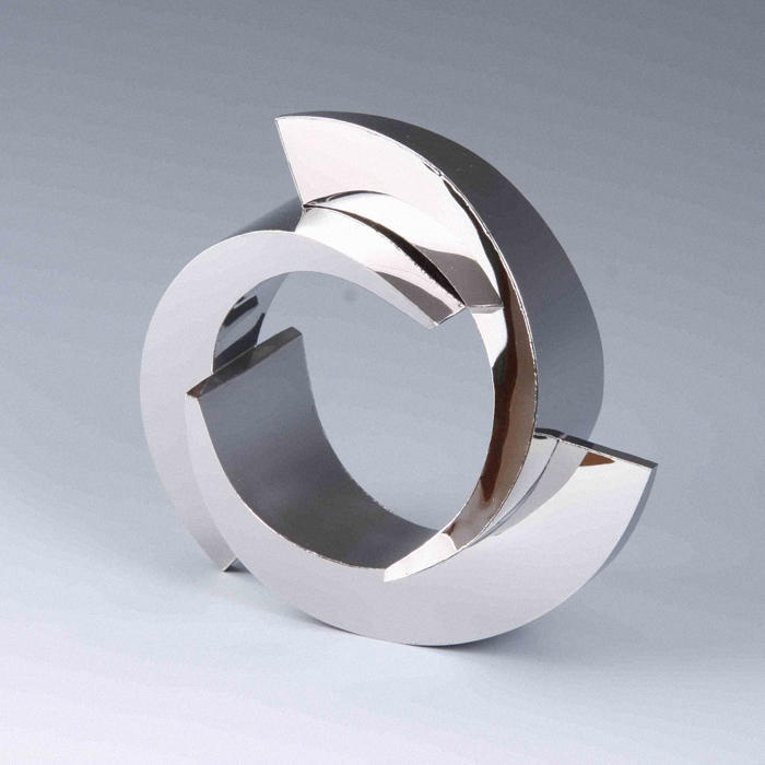 David Poston - Welded stainless steel polished bangle  Stainless steel