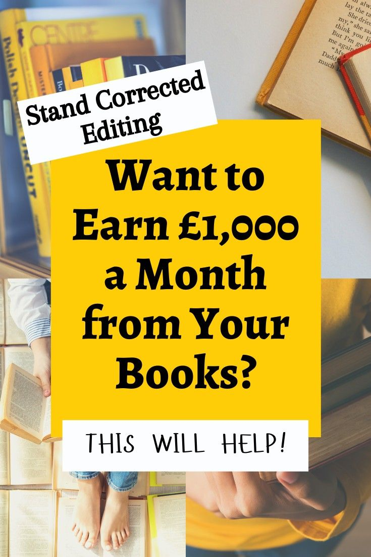 Learn How To Earn 1 000 A Month From Your Self Published Books Self Publishing Book Publishing Book Marketing
