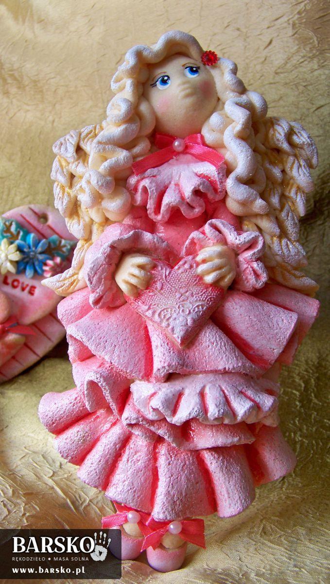 Anioł Walentynkowy z masy solnej