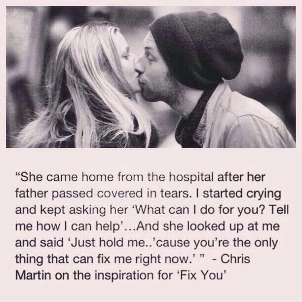#love Inspiration for Fix You- Coldplay