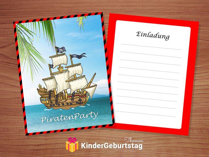 die besten 25+ piraten einladungen ideen auf pinterest | piraten, Einladung