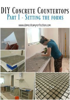 DIY concrete countertops, part 1 - prepping the forms