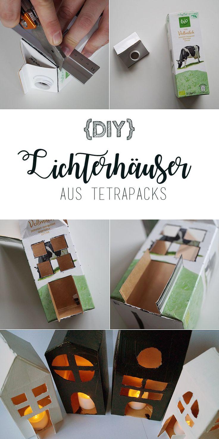 Lichterhäuser aus Tetrapacks {DIY}