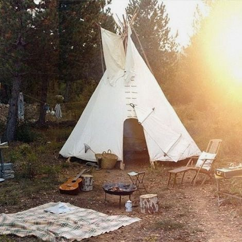 Glamping :: Camping Adventures :: Tents + Teepee :: Beach + Under The Stars  :: Wanderlust :: Gypsy Soul :: See More Outdoor Travel Ideas + Inspiration