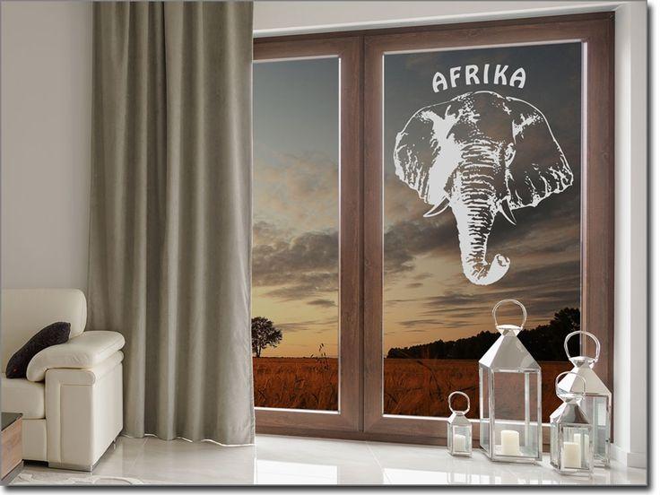 Glastattoo Afrika Elefant