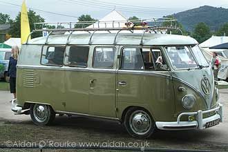 1960 split screen camper van for sale at Vanfest 2005