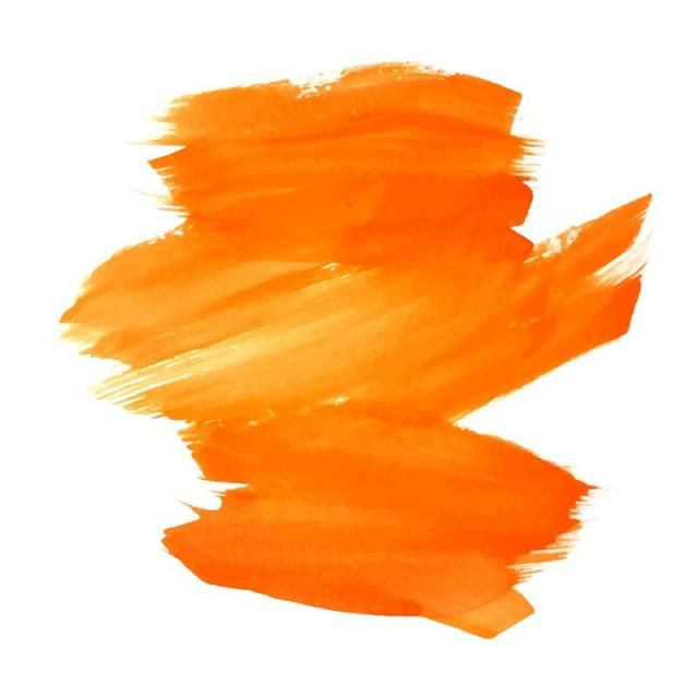 Modern Colorful Orange Stroke Watercolor Background Vector And Png Paint Vector Watercolor Background Orange Background