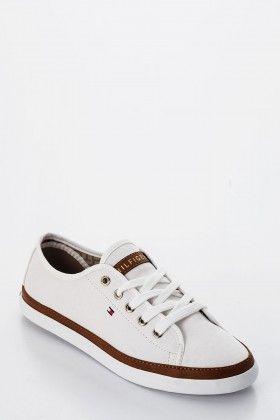Fehér/Barna/Multicolor Tommy Hilfiger Női Utcai cipő