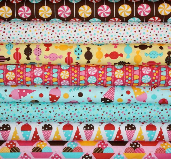 """Scrumptious """"Dessert Party"""" fabric.  I sooooo want to make lots of goodies with these patterns!"""