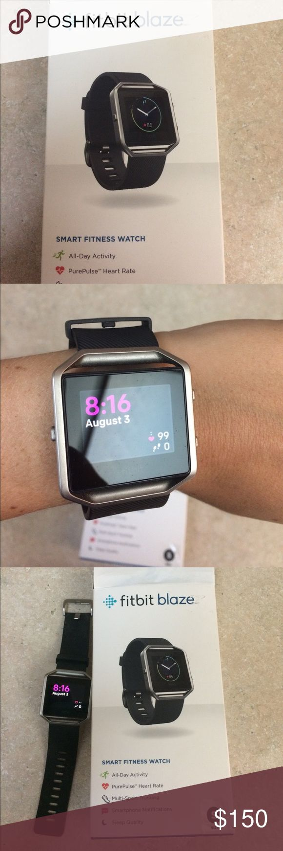Fit bit blaze size small Has heart rate all day activity pulse rate and smart phone notifications fitbit Accessories Watches