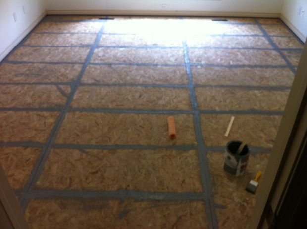 Painted plywood floors particle board plywood and for Painting plywood floors ideas