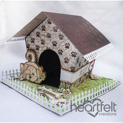 Heartfelt Creations - Puppy House Gift Box Project