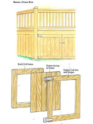 Creating Deck Storage and Hatches