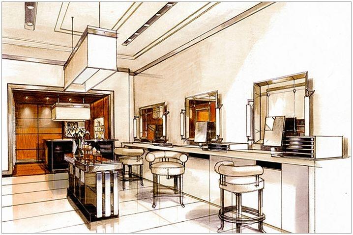 Bhdm design, cosmetics store rendering 2