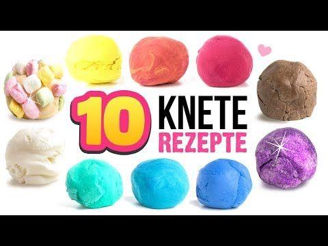 DIY KNETE einfach selber machen !!! Zahnpasta Kaugummi Marshmallow und Geschirrspülmittel Knete ! - YouTube