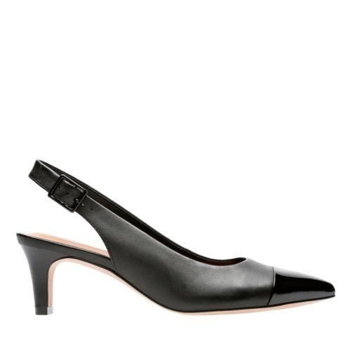 8c0ebc225a1 Crewso Emmy Black Leather Synt Combi - Women s Heels - Clarks® Shoes  Official Site