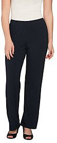 As Is Susan Graver Dolce Knit Comfort Waist Wide Leg Pull-On Pants