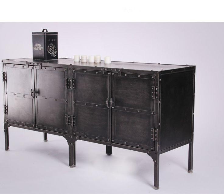 LOFT工业风美式乡村复古做旧集装箱造型床头柜鞋柜酒吧边柜玄关柜-淘宝网