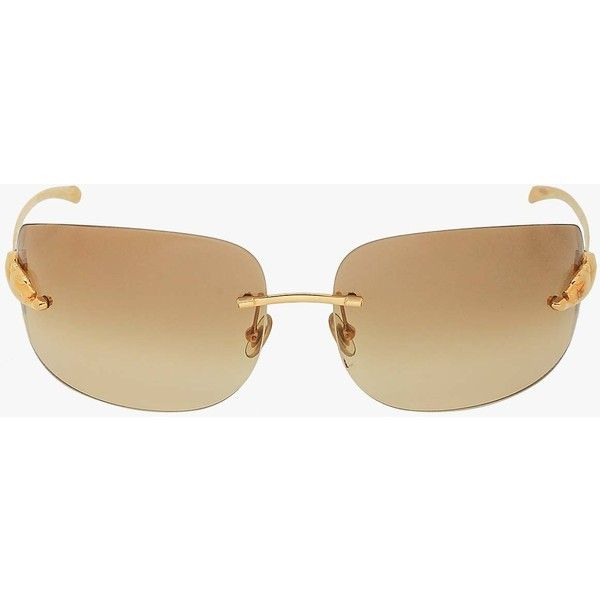 dea2533543e40 Pre-owned Cartier 110 Shield Sunglasses (2.075 VEF) ❤ liked on Polyvore  featuring accessories